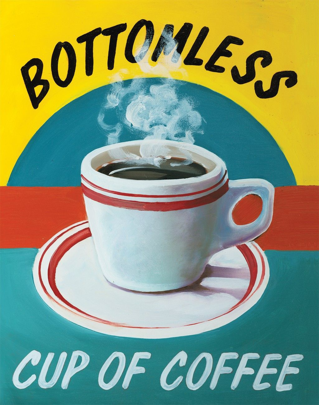 Bottomless Cup Of Coffee is a beautiful fine art canvas by Catherine ...