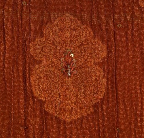 Sanskriti-Vintage-Indian-Saree-Georgette-Hand-Beaded-Craft-Fabric-Cultural-Sari