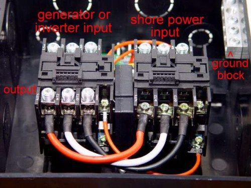 rv automatic transfer switch wiring diagram electrical Generator Transfer Switch Schematic 50 amp rv transfer switch wiring diagram