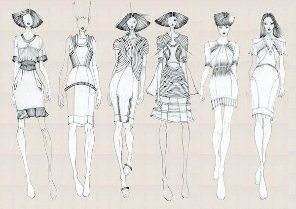 Task 3 Fashion Line Up On Behance Fashion Illustration Sketches Fashion Design Portfolio Fashion Art Illustration