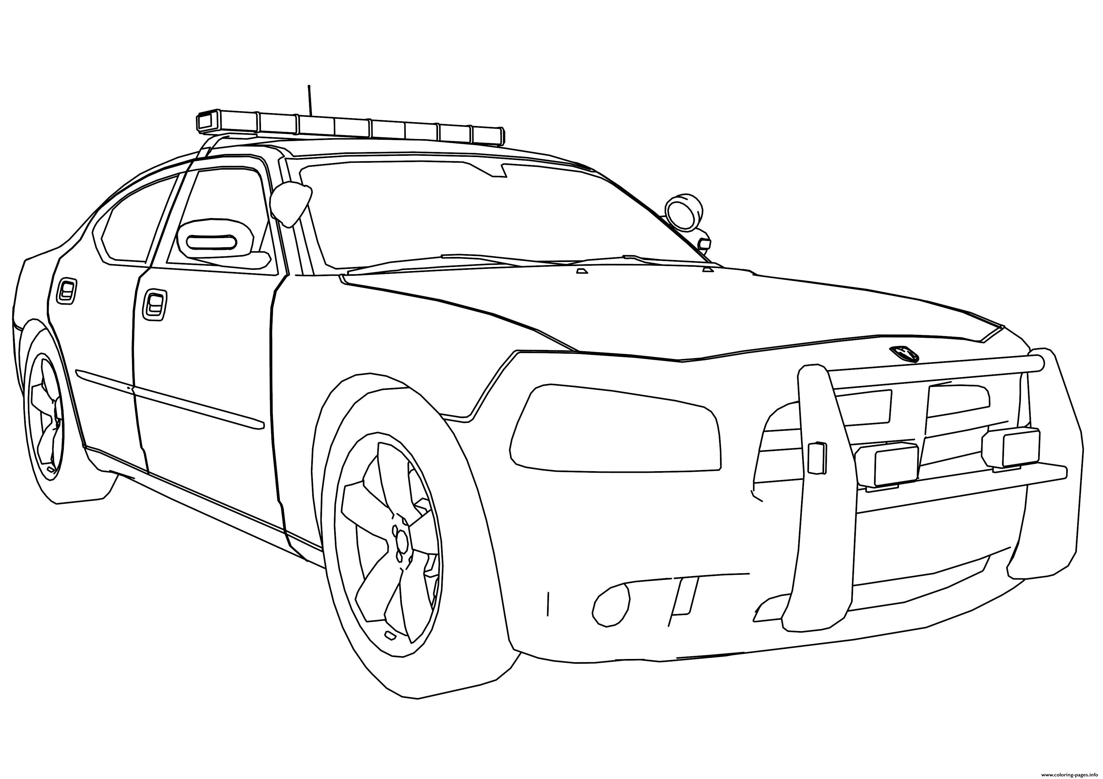 police car coloring page # 12