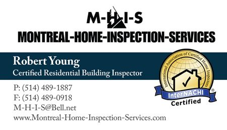 Brochure And Business Card For Montreal Home Inspection Services Home Inspection Business Business Resources