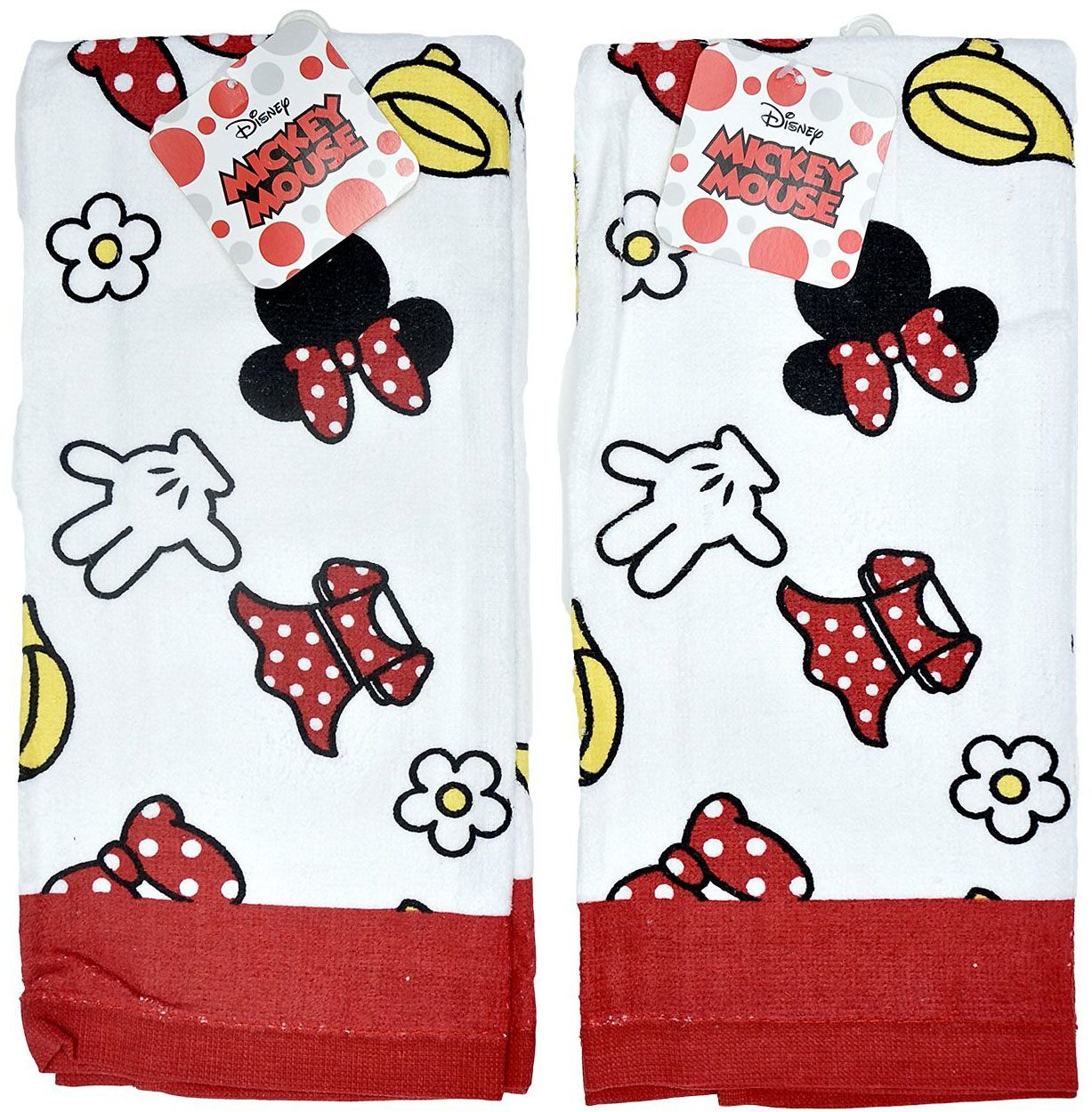 cute as polka-dots and bows minnie mouse kitchen towels | disney