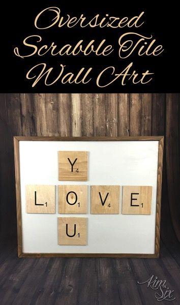 Oversized Scrabble Tile Wall Art | Scrabble tiles, Scrabble and Craft