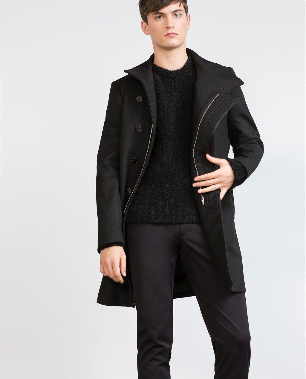 1035ab05 Image 2 of COAT WITH ASYMMETRIC FASTENING from Zara | Man Coat ...