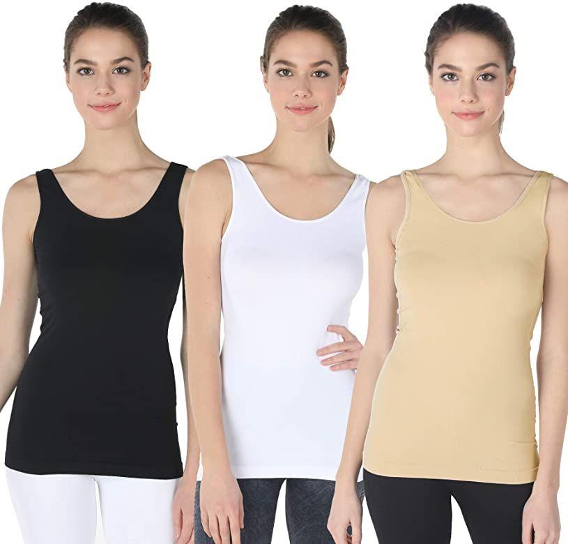 NIKIBIKI Women Seamless Premium Classic Camisole Made in U.S.A One Size