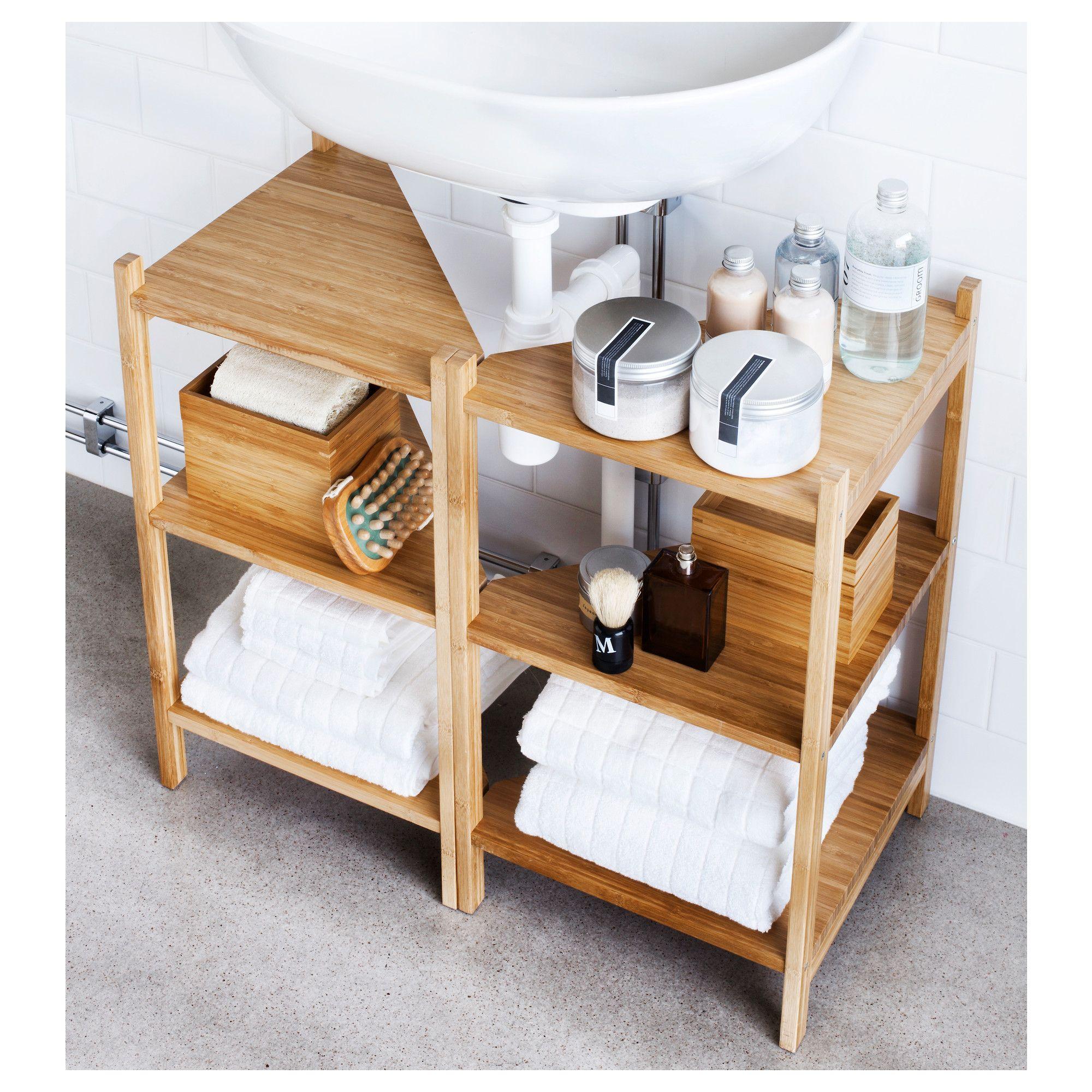 Ikea R 197 Grund Sink Shelf Corner Shelf Bamboo Products