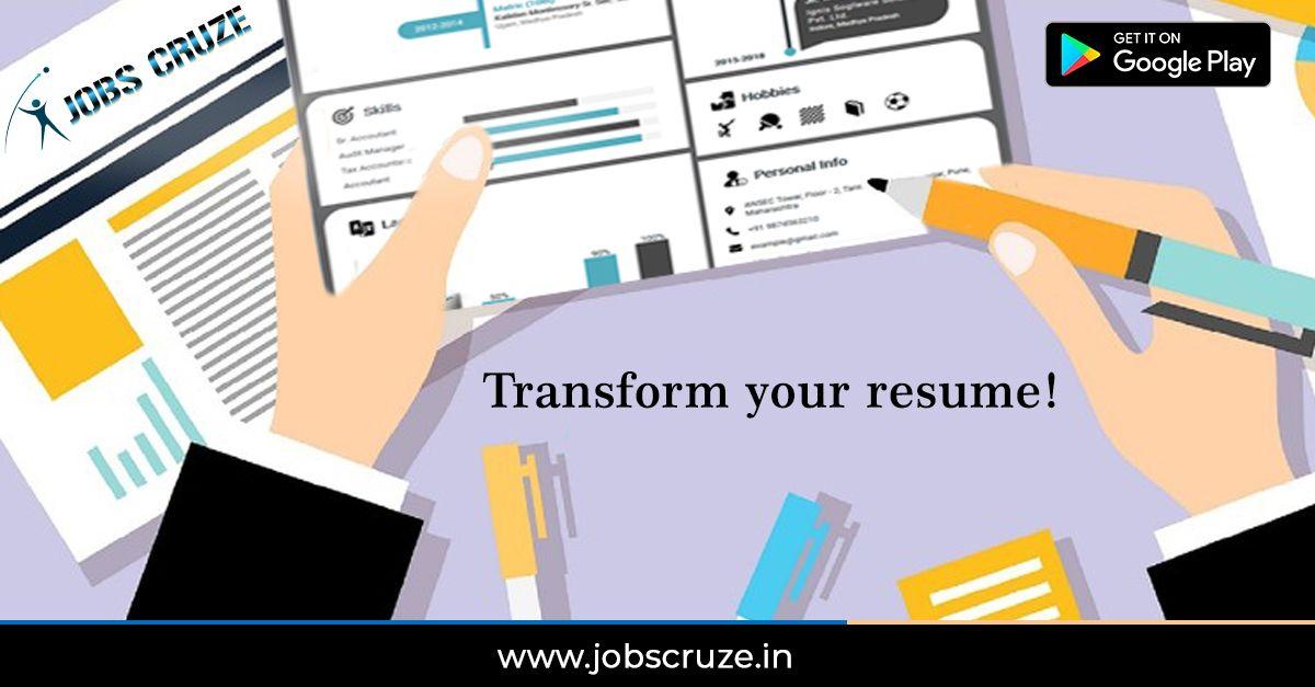 Transform your resume! Resume, Resume writer, Visual resume