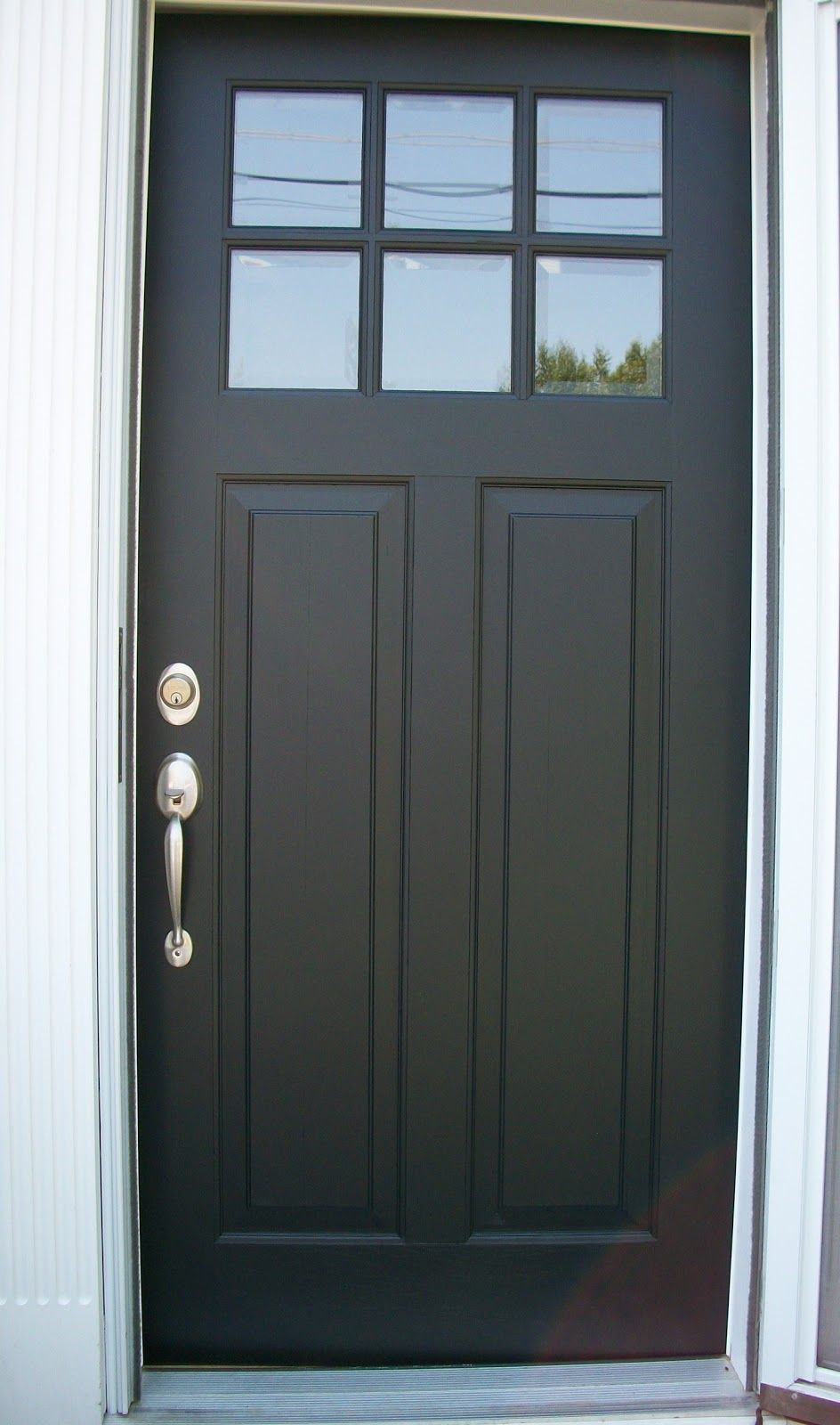 Front doors colors that look good with grey siding storm for Back entry doors for houses