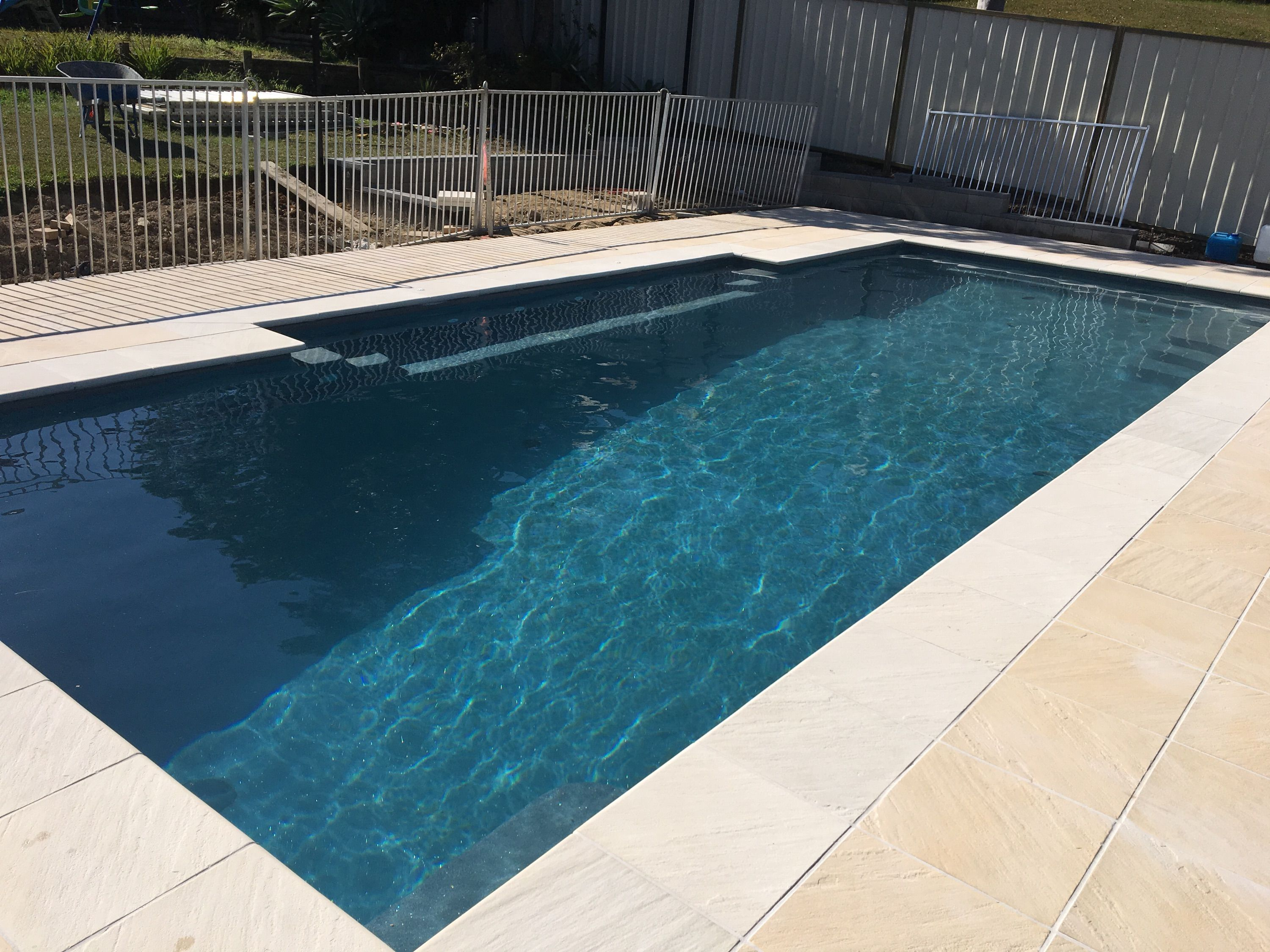 A Compass Pools Install In Evolution From The Bi Luminite Range Of Colours Small Pool Design Pool Colors Pool Paving