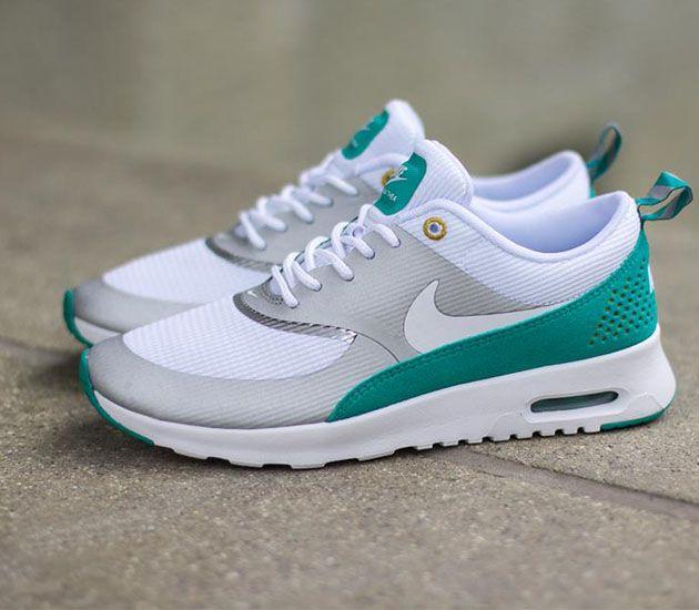 Nike Wmns Air Max Thea - Metallic Silver/White-Turbo Green Cheap Price