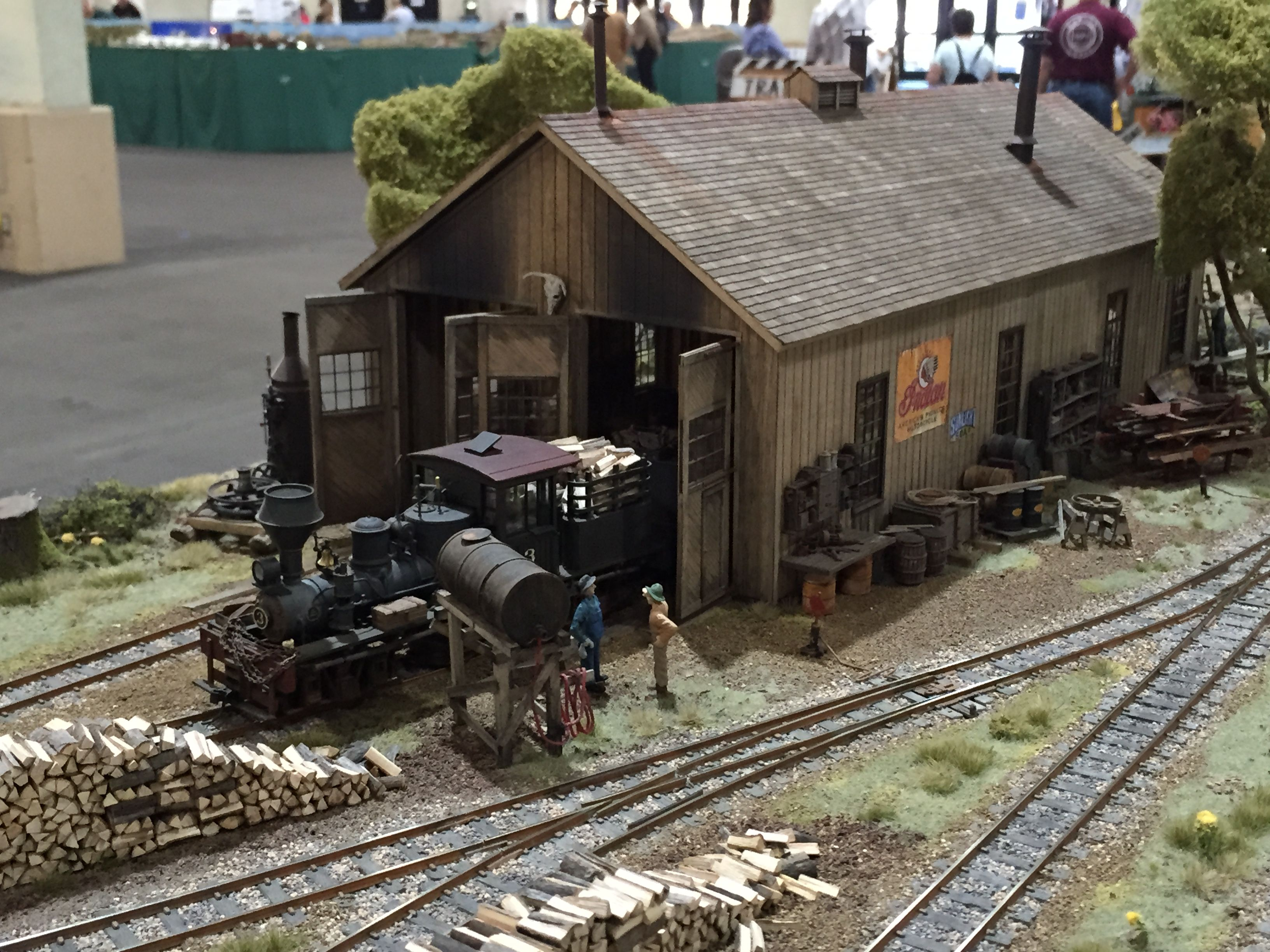 Model railroad engine house