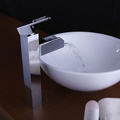 Color Changing LED Waterall Bathroom Sink Faucet (Tall) £149.99