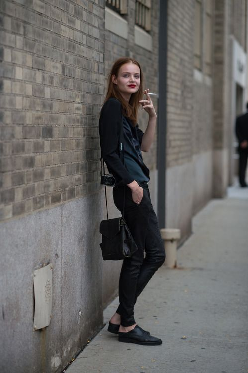back to black. #offduty in NYC.
