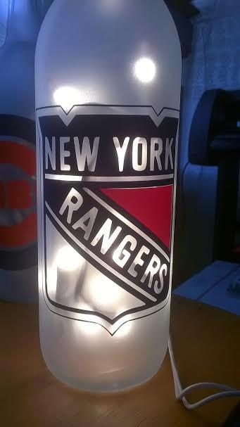 NHL New York Rangers Lighted Bottle Can be by DownHomeGift | All ...