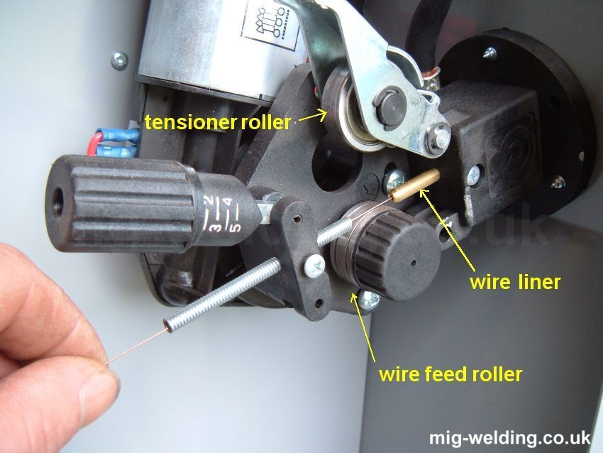 Wire feed tensioner and motor Welding projects, Welding