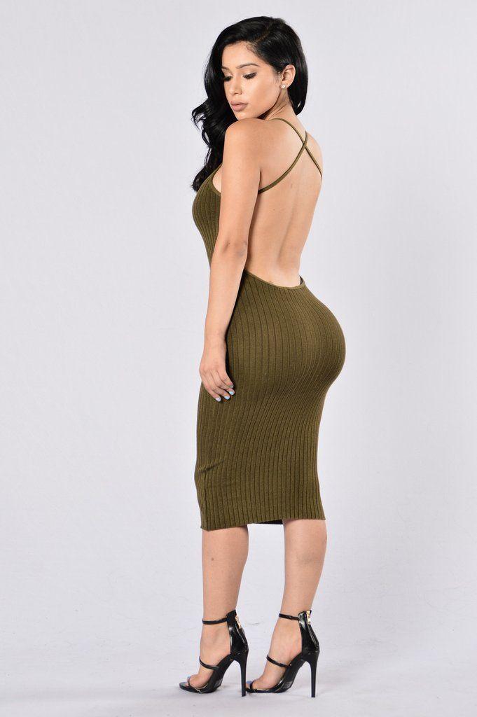 Turn Around Dress Olive Fashion Nova Dresses Sexy