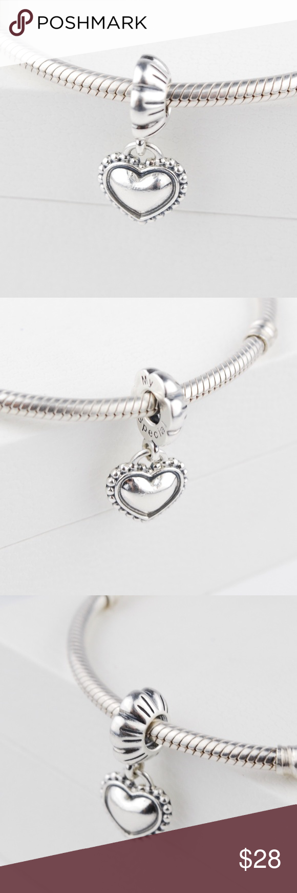 81ad145d2 Authentic PANDORA My Special Sister Heart Dangle One Authentic PANDORA  Sterling Silver My Special Sister Heart