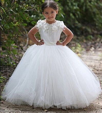 Little Girls Wedding Dresses, Flowe | Flower girls, Girls dresses ...