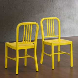 lemon metal dining chairs (set of 2) | supplies, restaurant and 2!