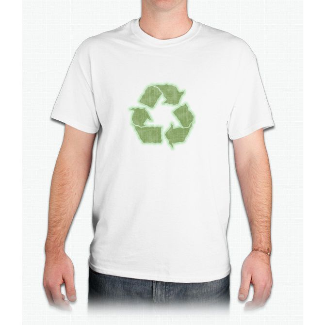Recycle Wavy Distressed - Mens T-Shirt