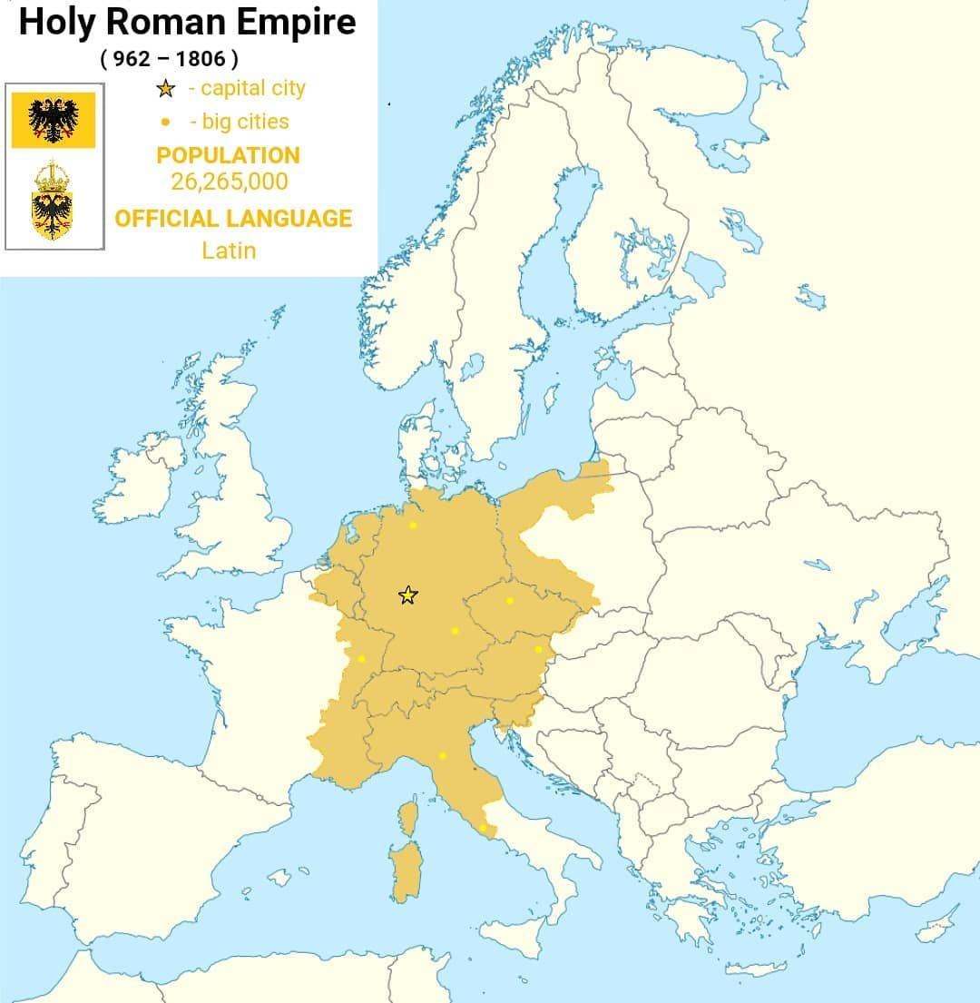 Holy Roman Empire Map Holy Roman Empire #holy #roman #empire #holyromanempire #europe