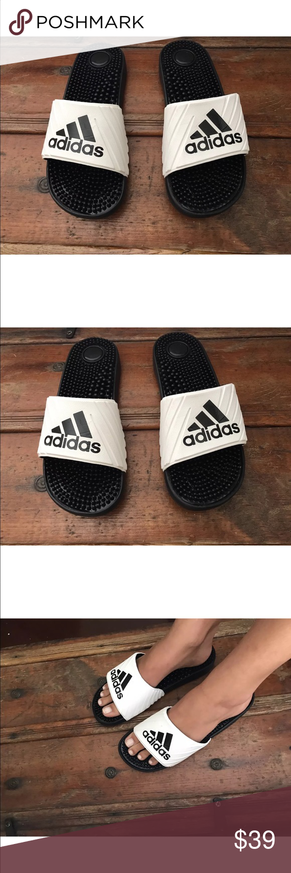 1b8be77d49a2 NEW adidas Performance Women s Voloossage Slides 8 No tags