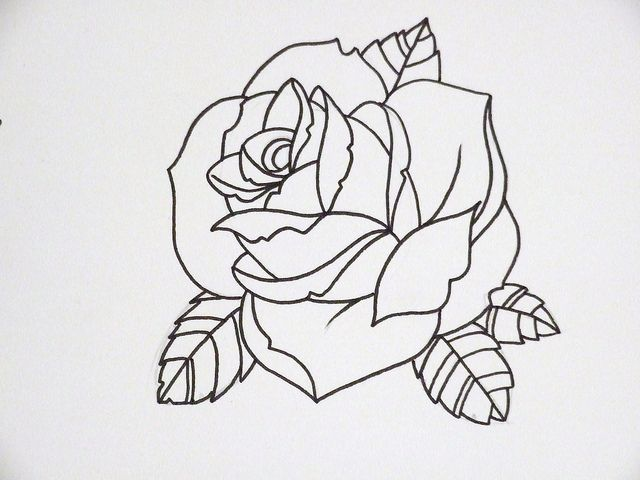 Rose Outline 3 Rose Outline Tattoo Rose Outline Tattoo Outline
