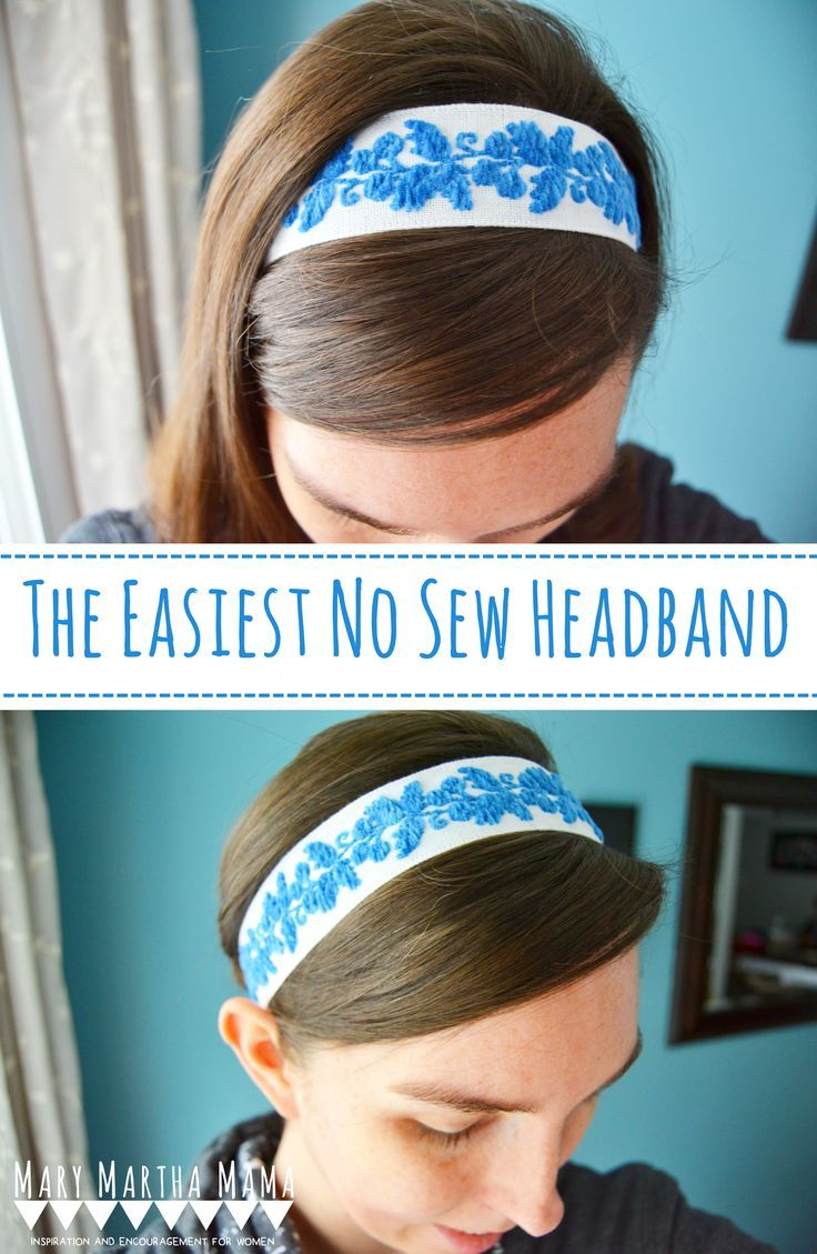 the easiest no sew headband- you can make an awesome diy headband
