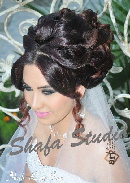بالصور أحدث تسريحات ومكياج العرائس Hairdo Wedding Arabic Hairstyles Hair Styles