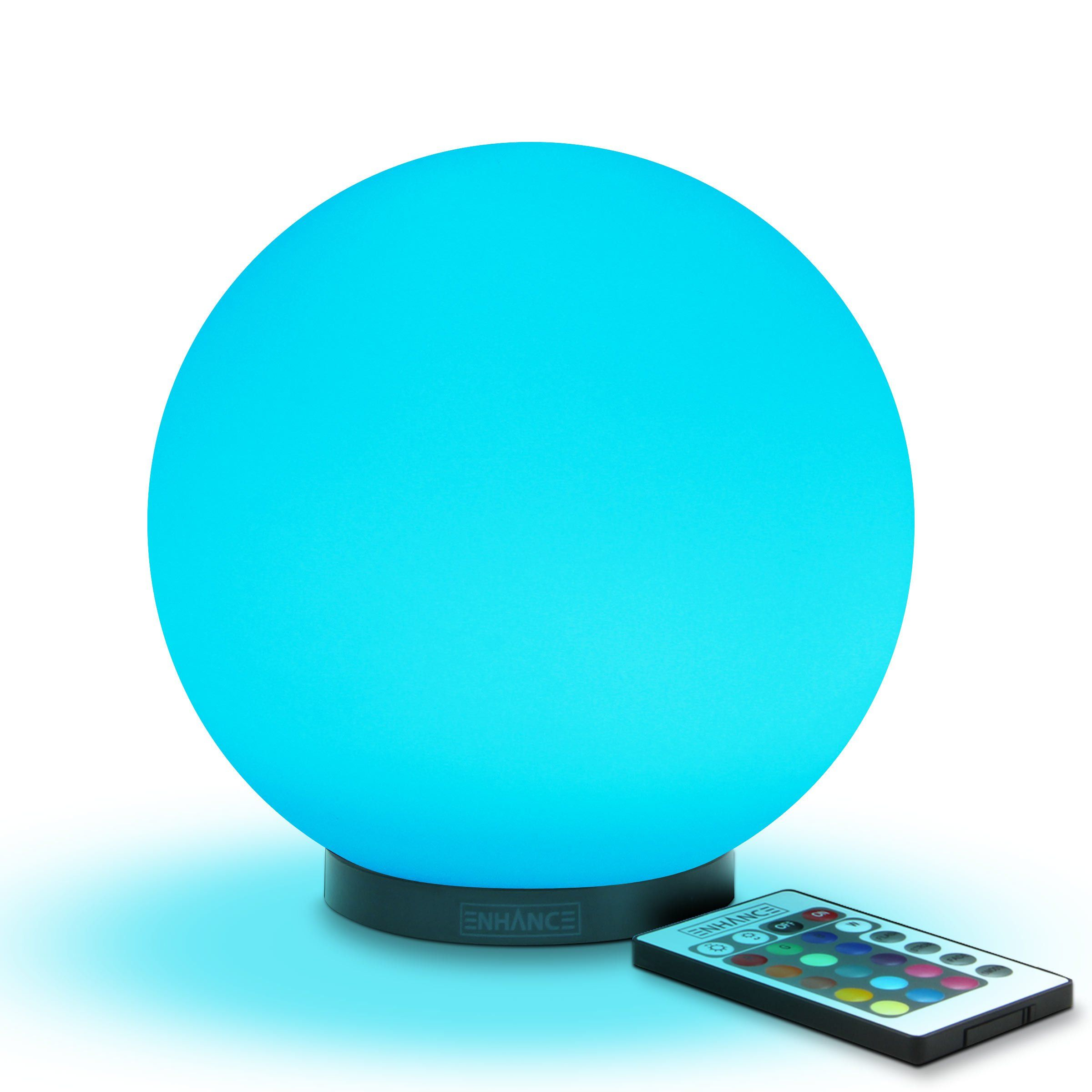 Kids led globe night light ambient color changing glass