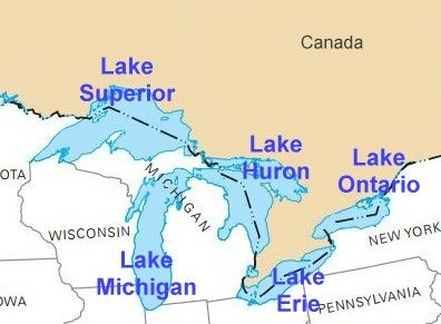 Lake Michigan is one of the five Great Lakes of North ...