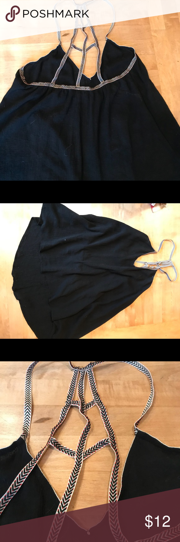 Miken swim size large black dress with fun back euccould be used as