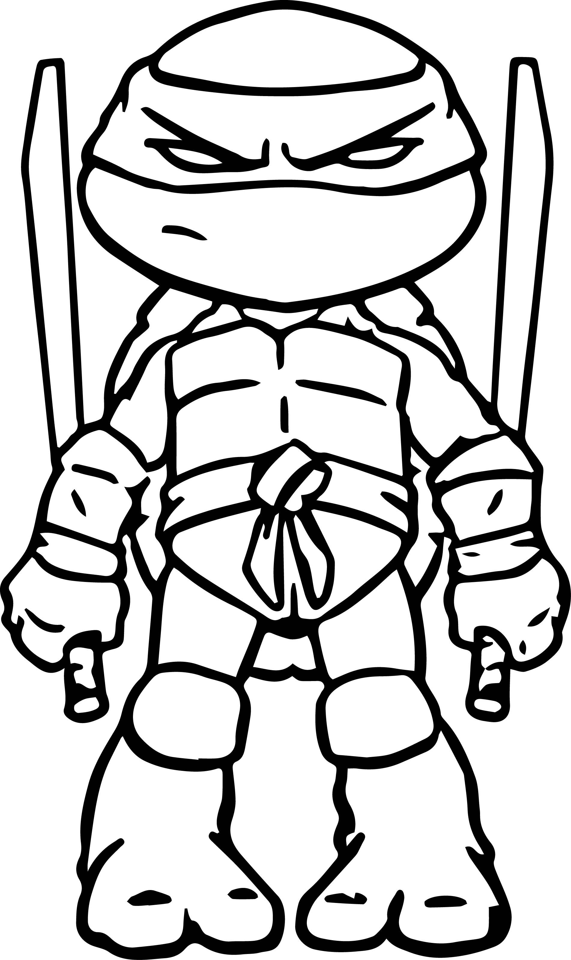Ninja turtles art coloring page