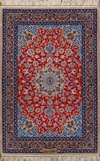 Esfahan Persian Rug, Buy Handmade Esfahan Persian Rug 2 4 x 3 3, Authentic Persian Rug $1,460.00 🌀💠🌀💠Rugs / Area Rugs : More At FOSTERGINGER @ Pinterest 🌀💠🌀💠