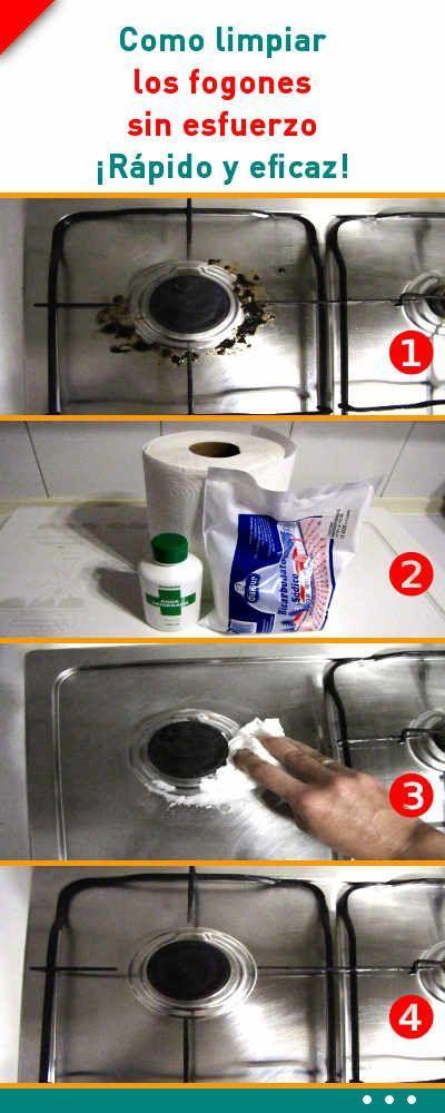 Como limpiar los fogones sin esfuerzo. ¡Rápido y eficaz! | Limpieza ...