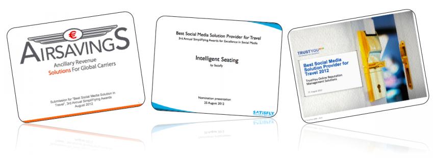 #SFAwards12 Best Social Media Solution Provider for Travel – Top 3 Finalist Presentations