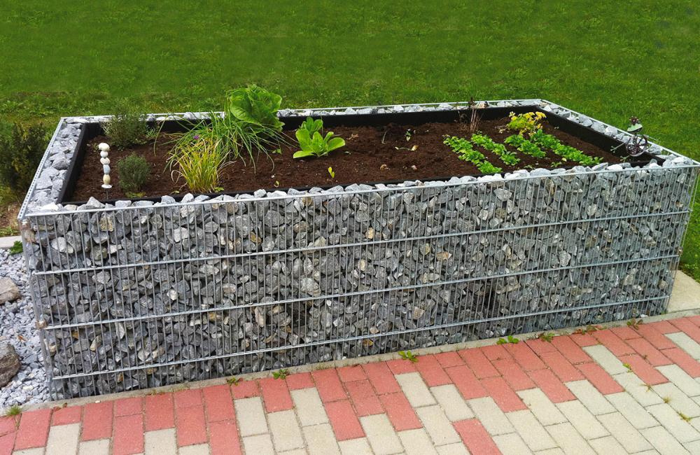 Gabionen Hochbeet In Premiumqualitat 250x120x80cm Traumgabionen De Gabionen Hochbeet Hochbeet Gartenprojekte