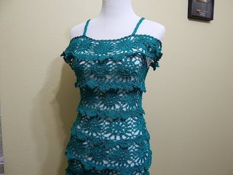 e6095e44c Vestido para Dama Crochet parte 1 de 3 - YouTube