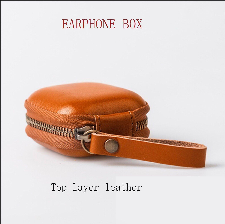 Earphone Caseapple Airpods Case Leather Purse Cable Etsy Cord Organizer Leather Leather Earphone Case
