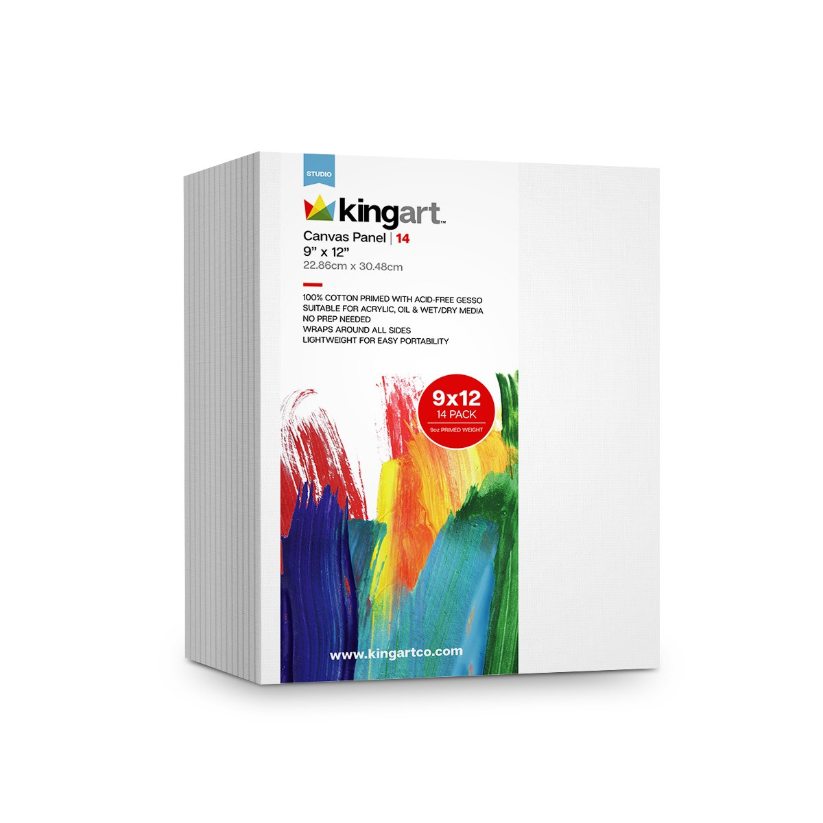 KINGART™ Canvas Panel 3 x 5 inch 14-Pack