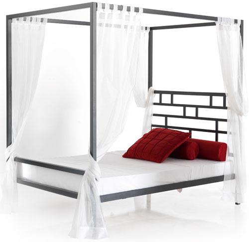 Cama dosel forja estilo zen camas for Muebles industriales metal baratos