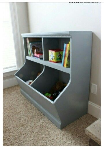 Bookcase With Toy Storage Rogue Engineer Diy Toy Storage Diy Furniture Toy Storage