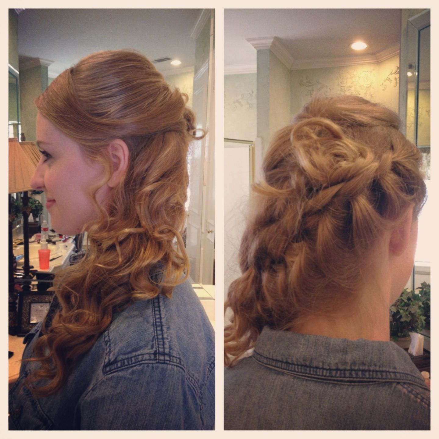 Side swept French braid prom/wedding hairstyle | Hair Love | Side braid hairstyles, Hair styles ...