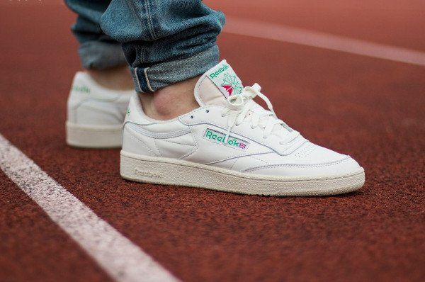 cdd67341b3e Reebok Club C 85 Vintage OG  Chalk White Green  post image