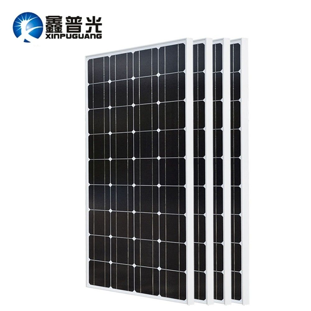 Solar Panel Xinpuguang 2pcs 3pcs 4pcs 100w 18v Glass Solar Panels 200w 300w 400w Panneau Solaire Monocrystalline Solar Board 12v 54 Energy In 2020 Solar Panels Solar Power Solar Cell