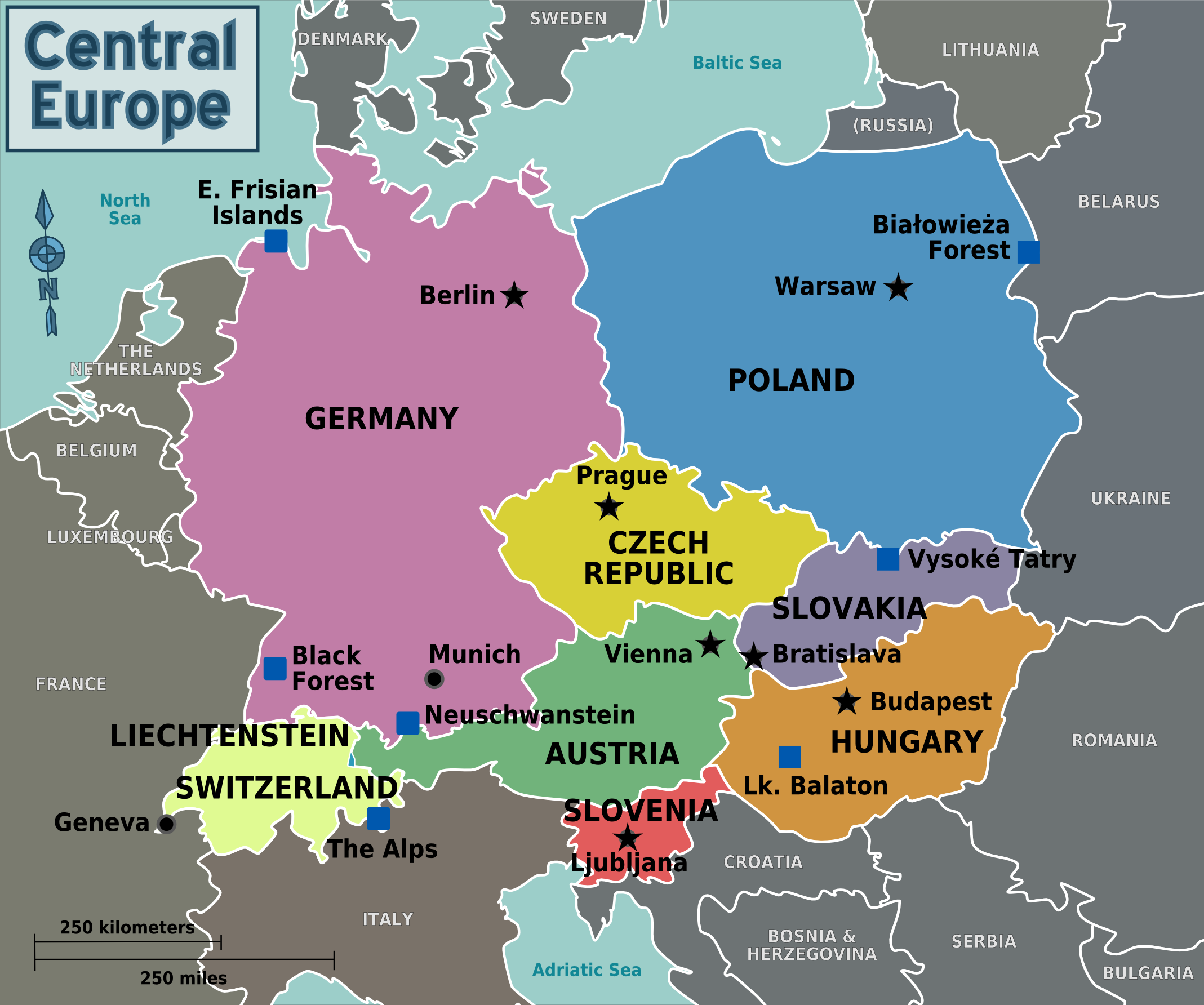 Countries Of Central Europe
