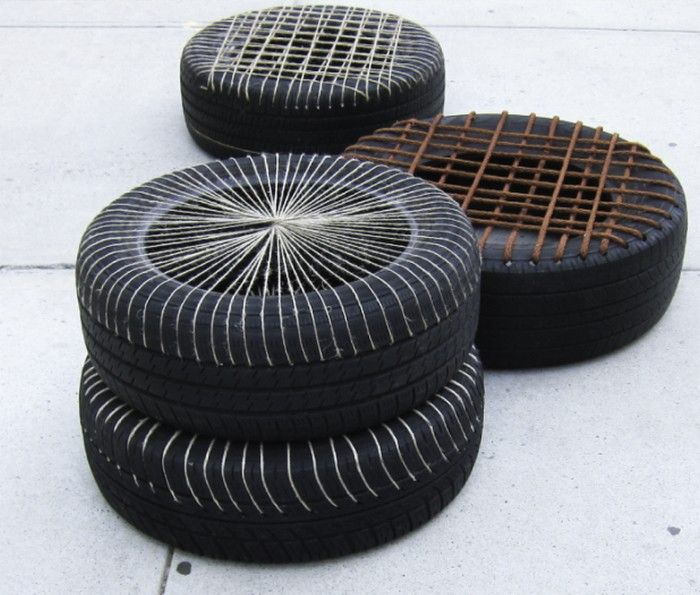 diy furniture made with old tires | Tire Chairs and ...
