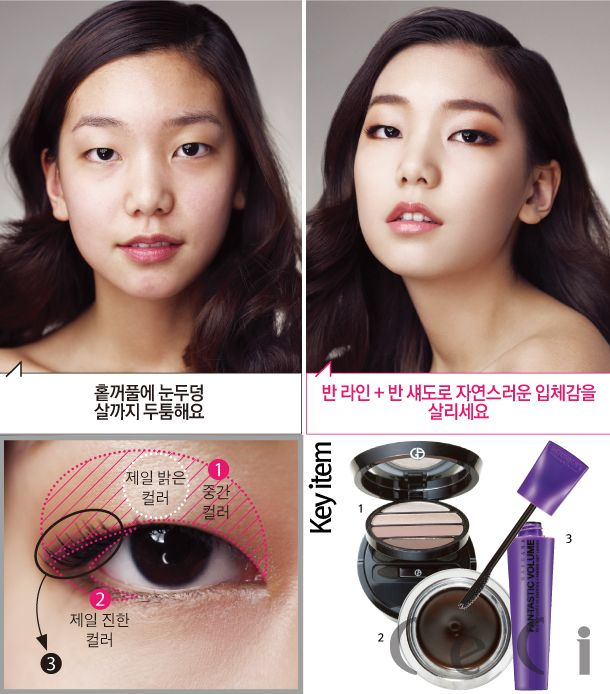 Before After Smokey Brown Monolid Makeup Bb Cream Foundation To
