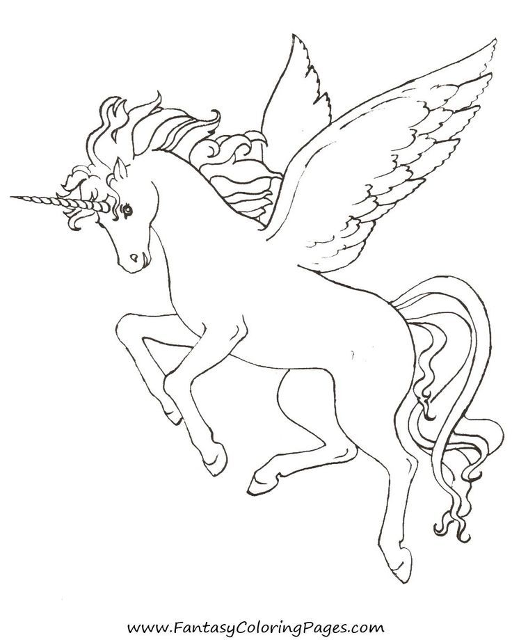 Free Pegasus Coloring Page Coloring Pages Unicorn Coloring